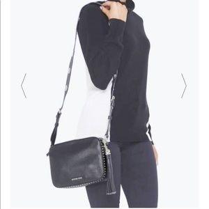 Michael Kors Black Leather Brooklyn Bag
